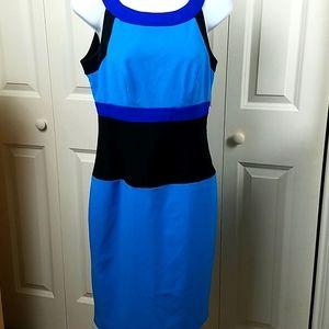 Calvin Klein color block sleeveless dress